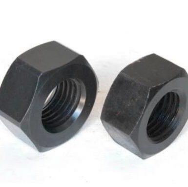 ASME standarta sešstūru riekstu melnais oksīds