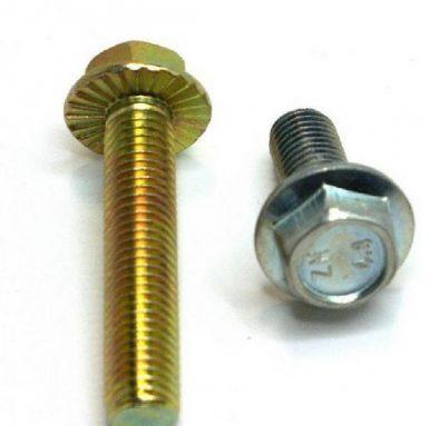 DIN 6921 sešstūra atloka skrūve ar cinka pārklājumu 8.8